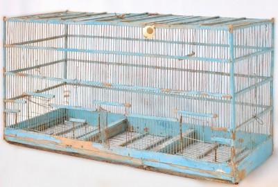 Grande cage à oiseaux vintage - VENDUE