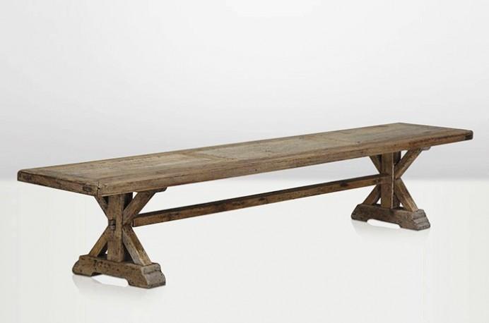 banc banc de table en bois ancien massif pin ch ne ferme campagne style charme bois. Black Bedroom Furniture Sets. Home Design Ideas