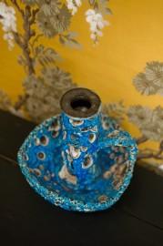 Bougeoir en céramique émaillée