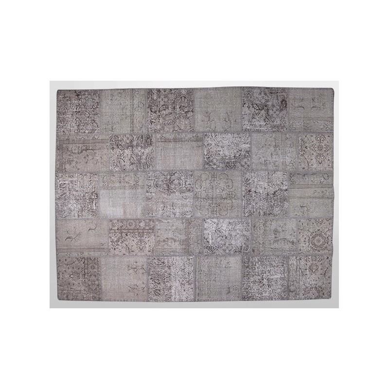 vintage patchwork rug, carpet, gery, frosted grey, natural colors ...