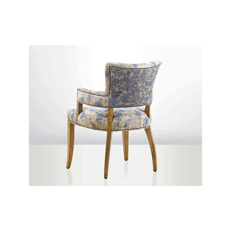 Retro Design Fauteuil.Vintage Retro Shabby Chic Bridge Chair Velvet Blue Retro Style