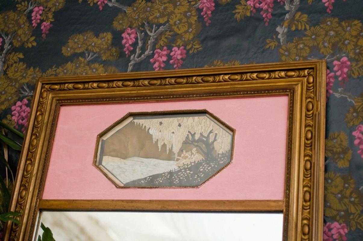 Miroir trumeau ancien trumeau ancien miroir chemin e for Miroir trumeau ancien