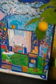 """Painting """"Rêveur"""" - F. Cardi"""