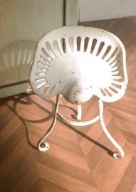 White tripod stool, 20s