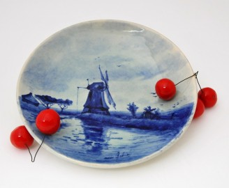 Assiette de Delft, fin XIXeme