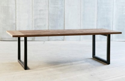 Arty Dining Table Wood & Metal
