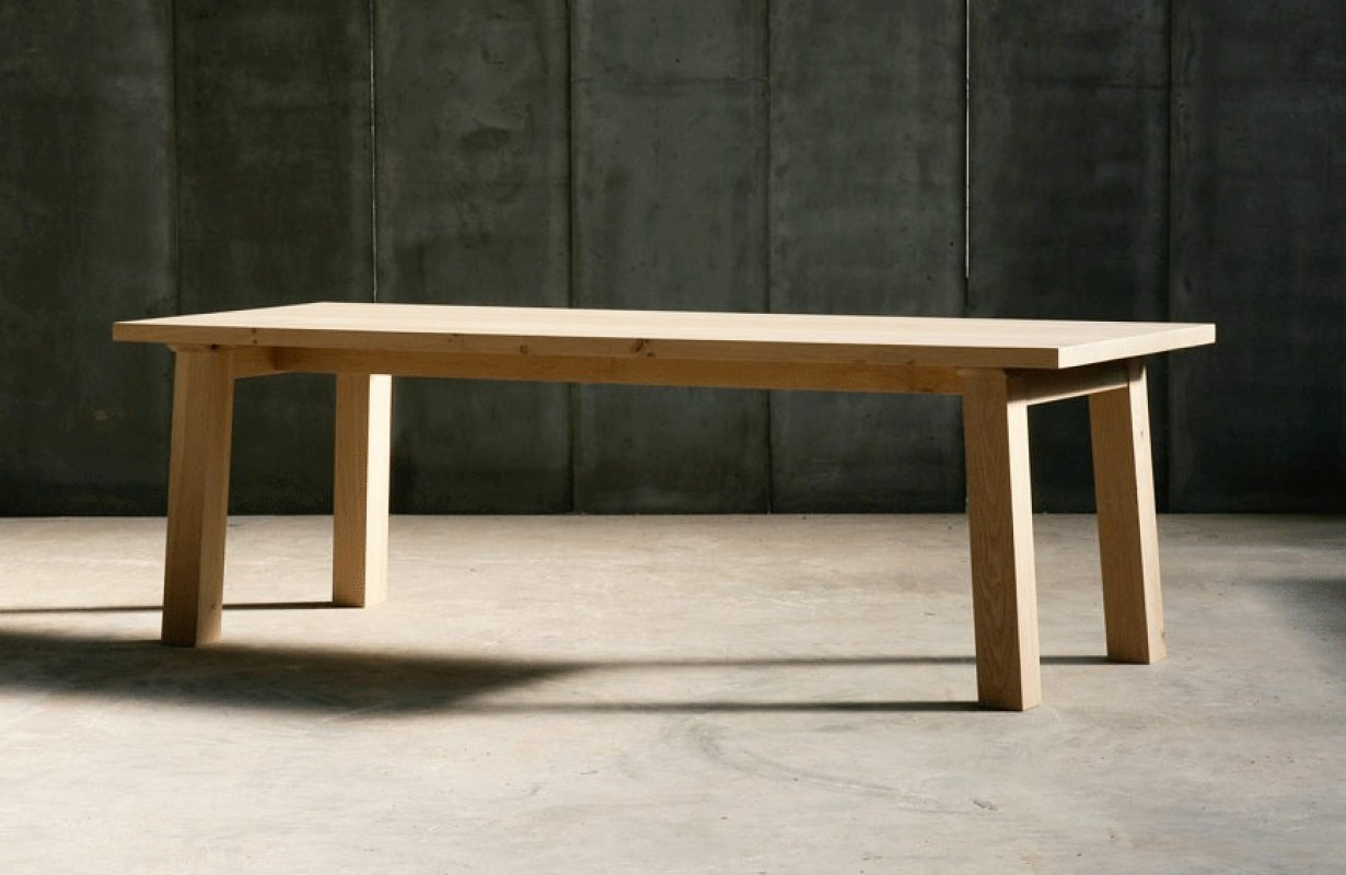 Big and beautiful contemporary table made of solid oak