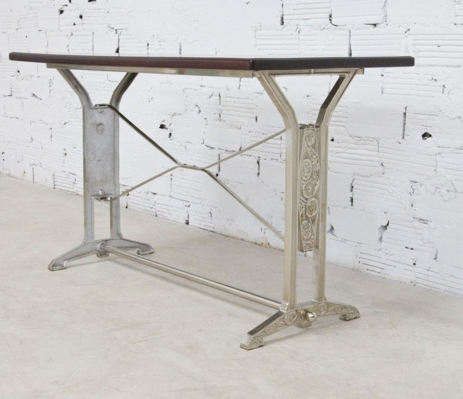 Table art d co vintage r tro ancienne bistrot salle for Table cuisine bistrot