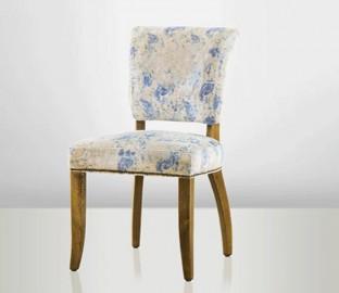 Chaise velours Reflets Bleus