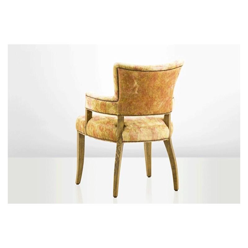 bridge armchair, velvet armchair, yellow, retro style ...