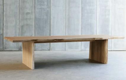 Grande table de repas moderne en chene massif - 280cm