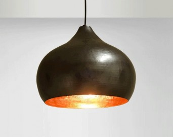 Round Copper Hanging Lamp
