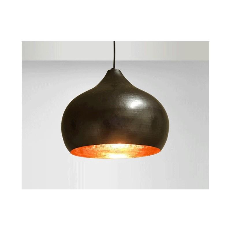 suspension design moderne cuivre martel luminaire b ne or miel. Black Bedroom Furniture Sets. Home Design Ideas