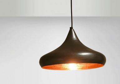 Copper Floor Lamp, flat-shaped