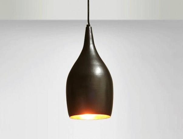 suspension luminaire lampe moderne actuelle contemporaine cuivre martel couleur noir. Black Bedroom Furniture Sets. Home Design Ideas