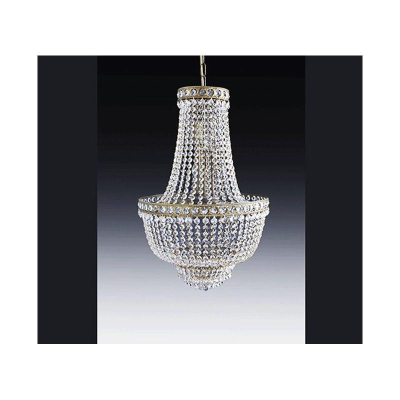 lustre montgolfiere en cristal sissi de 50cm de diam tre sur 80cm de hauteur. Black Bedroom Furniture Sets. Home Design Ideas
