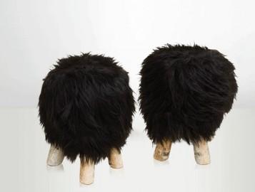 Tabouret Shetland noir