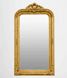 "Miroir ""Rocaille"" doré"