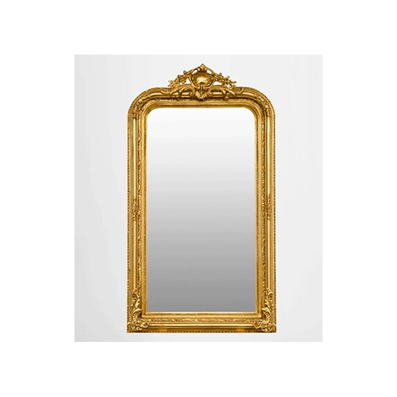 miroir chemin e miroir de chemin e baroque ancien r tro dor or bois stuc. Black Bedroom Furniture Sets. Home Design Ideas