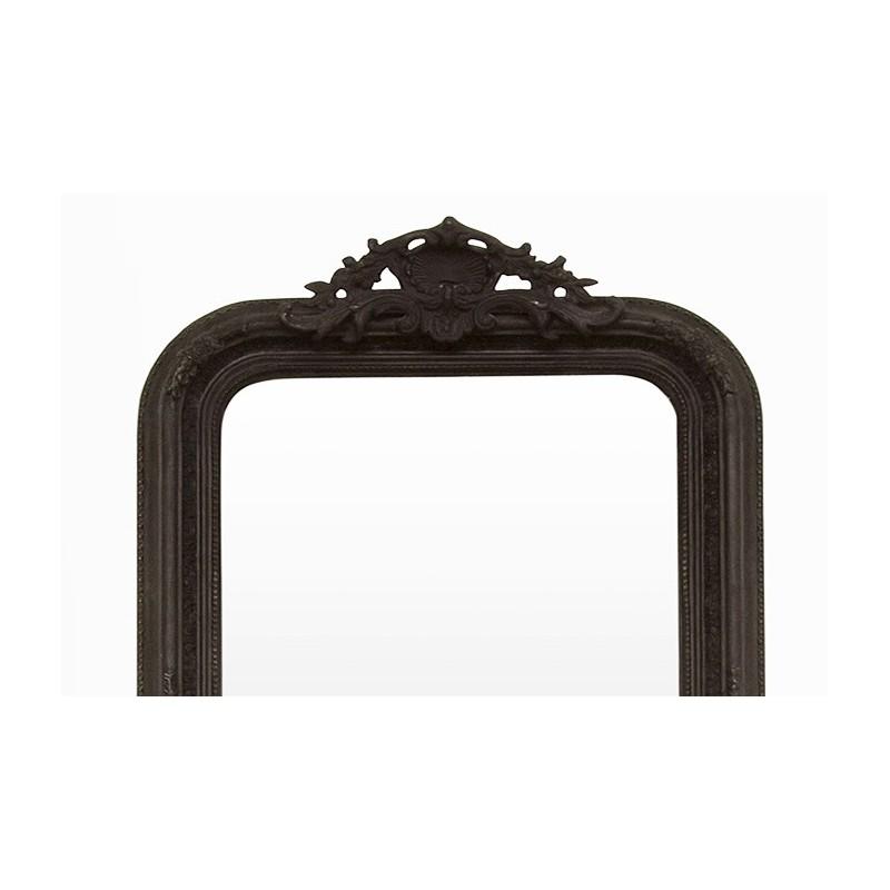 Miroir ancien miroir chemin e miroir d coratif noir for Miroir cheminee