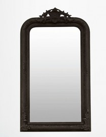 "Black  ""Rocaille"" Mirror"