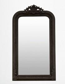 """Miroir """"Rocaille"""" noir"""