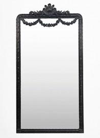 """Grand Miroir """"Galanterie"""" noir"""