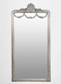 """Silver """"Galanterie"""" Baroque Mirror"""