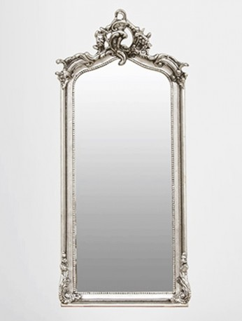 Miroir d co baroque italien style argent sculpt for Miroir in english