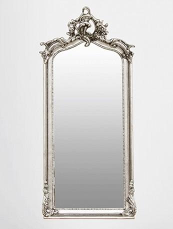 """Miroir """"Abondance"""" argenté"""
