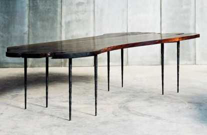 Table en Noyer Italien, 300x100cm