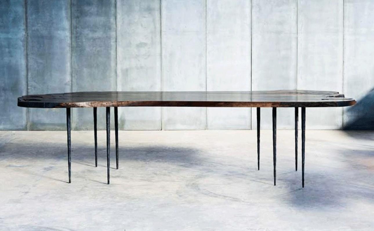 table bois noyer table contemporaine grande table table de ferme table de salle manger. Black Bedroom Furniture Sets. Home Design Ideas