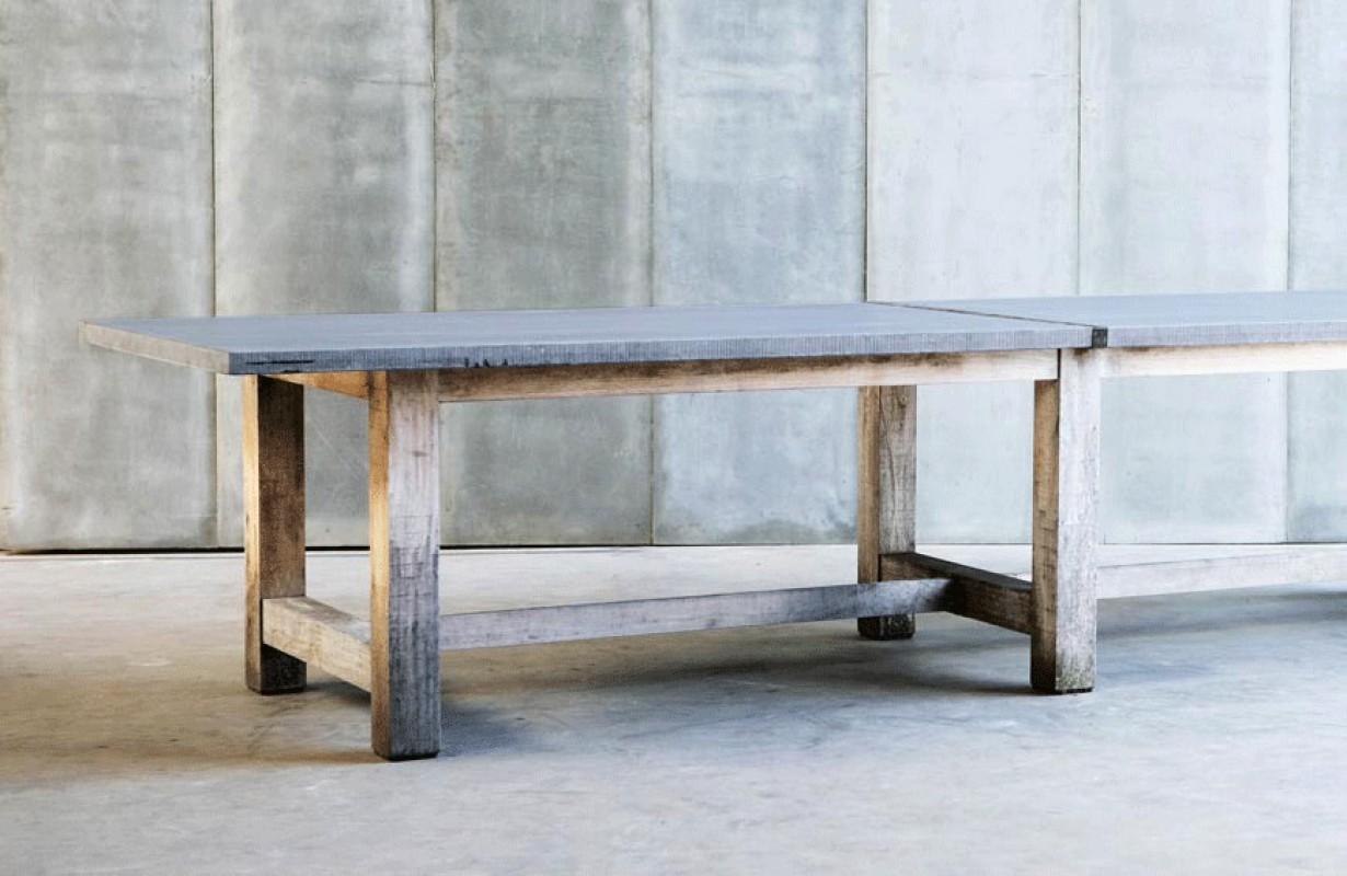 Grande table de ferme table bois ch ne rectangulaire for Salle a manger en pierre