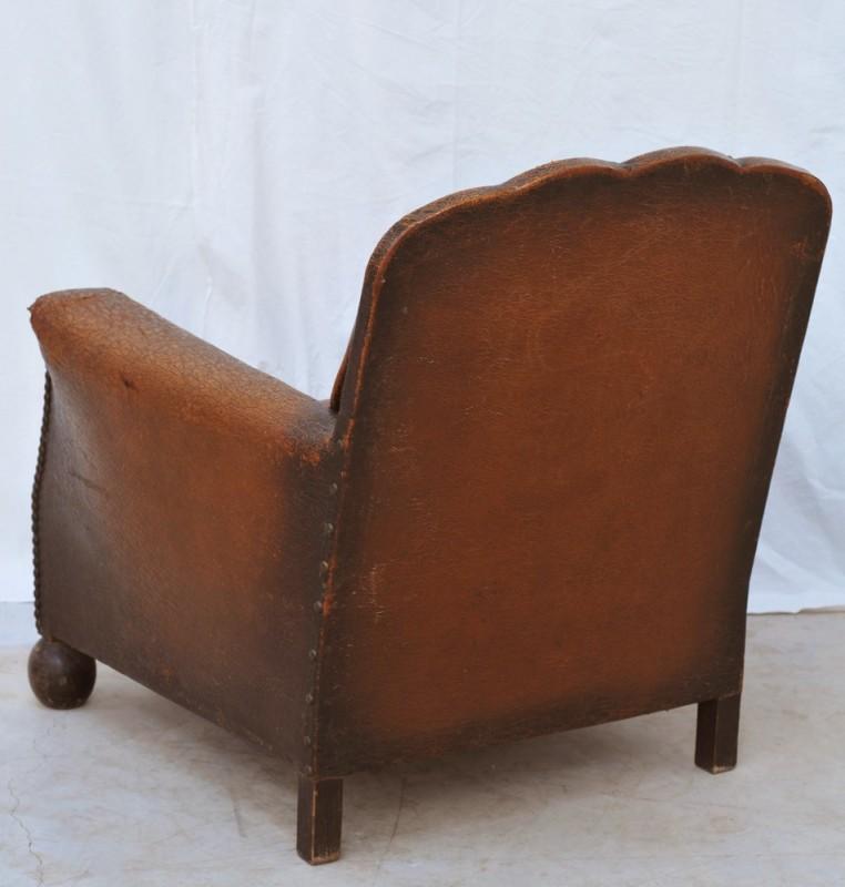fauteuil club vintage 1930 meuble ancien shabby chic. Black Bedroom Furniture Sets. Home Design Ideas