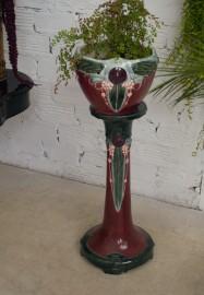 Colonne-socle et cache-pot Art-Nouveau