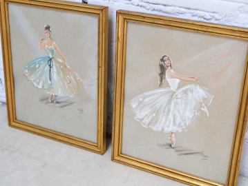 Ballerinas - Pair of watercolors - SOLD