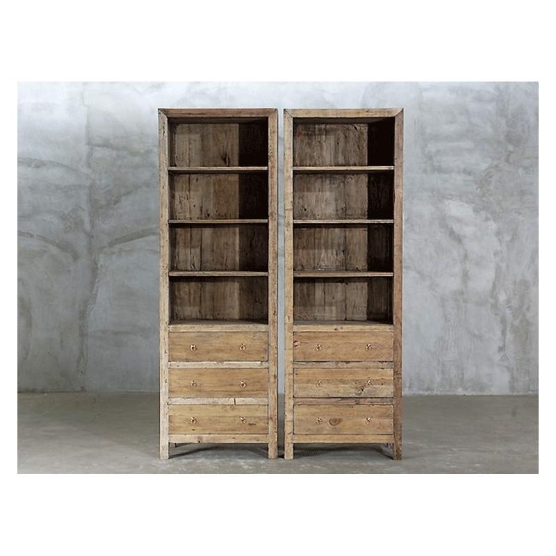 grande meuble tag re forest de 210 cm de hauteur enti rement r alis e en pin ancien recycl. Black Bedroom Furniture Sets. Home Design Ideas