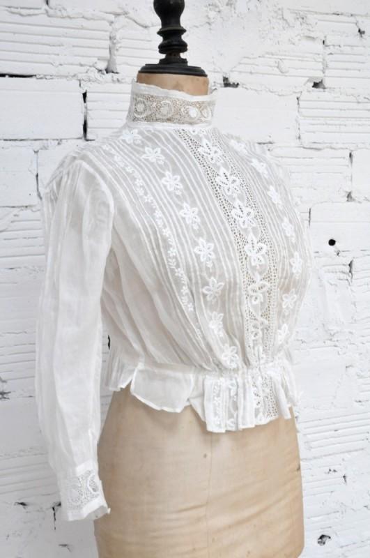 Chambre Deco Femme : Chemisier vintage chemise dentelle style belle