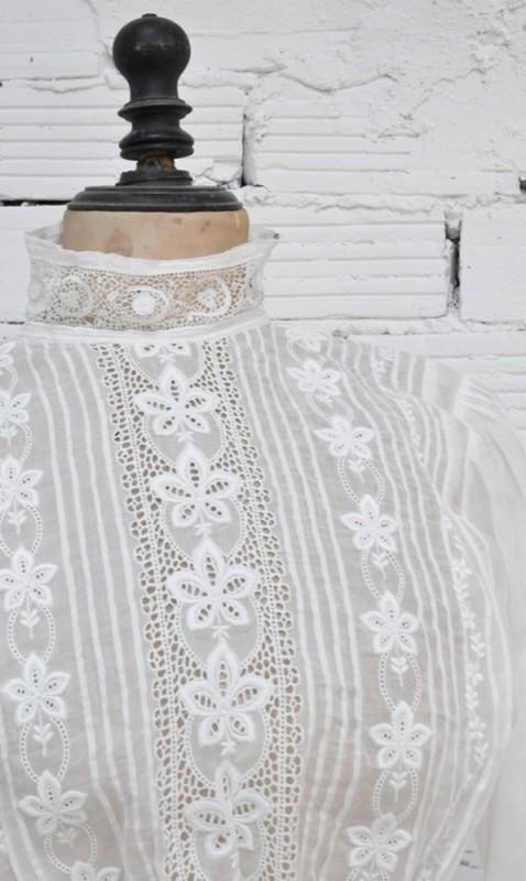 chemisier vintage chemise dentelle style 1900 belle. Black Bedroom Furniture Sets. Home Design Ideas