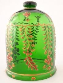 Cloche verre émaillée vintage