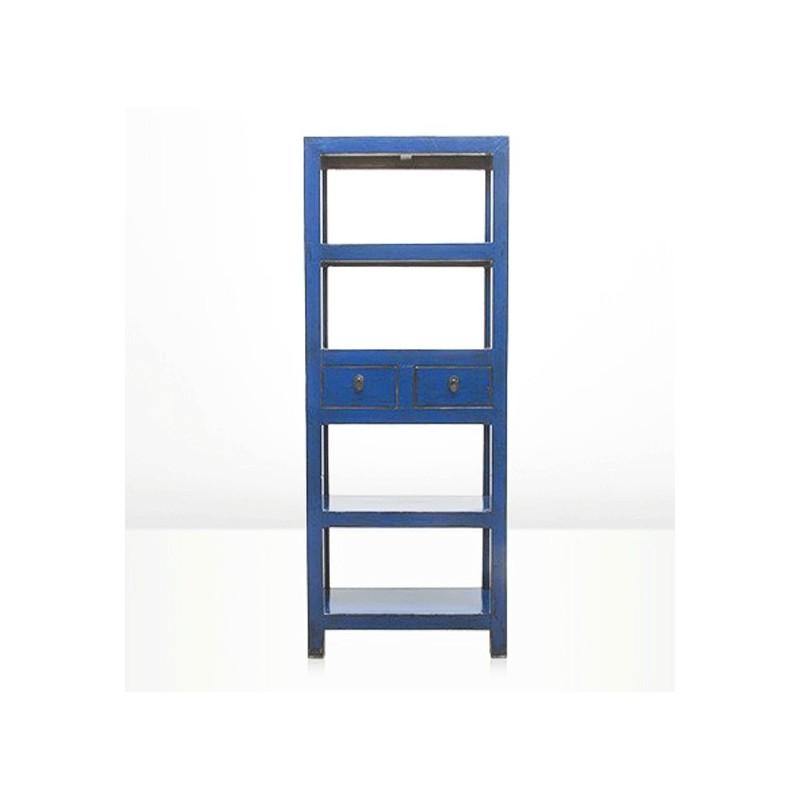 tag re style vintage bleu bleu indigo tag re en bois meuble tag re. Black Bedroom Furniture Sets. Home Design Ideas