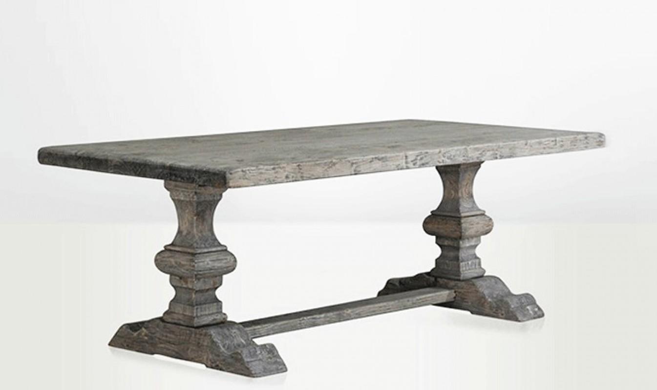 table de ferme, gris, bois gris, cendré, table bois, table en bois, table de