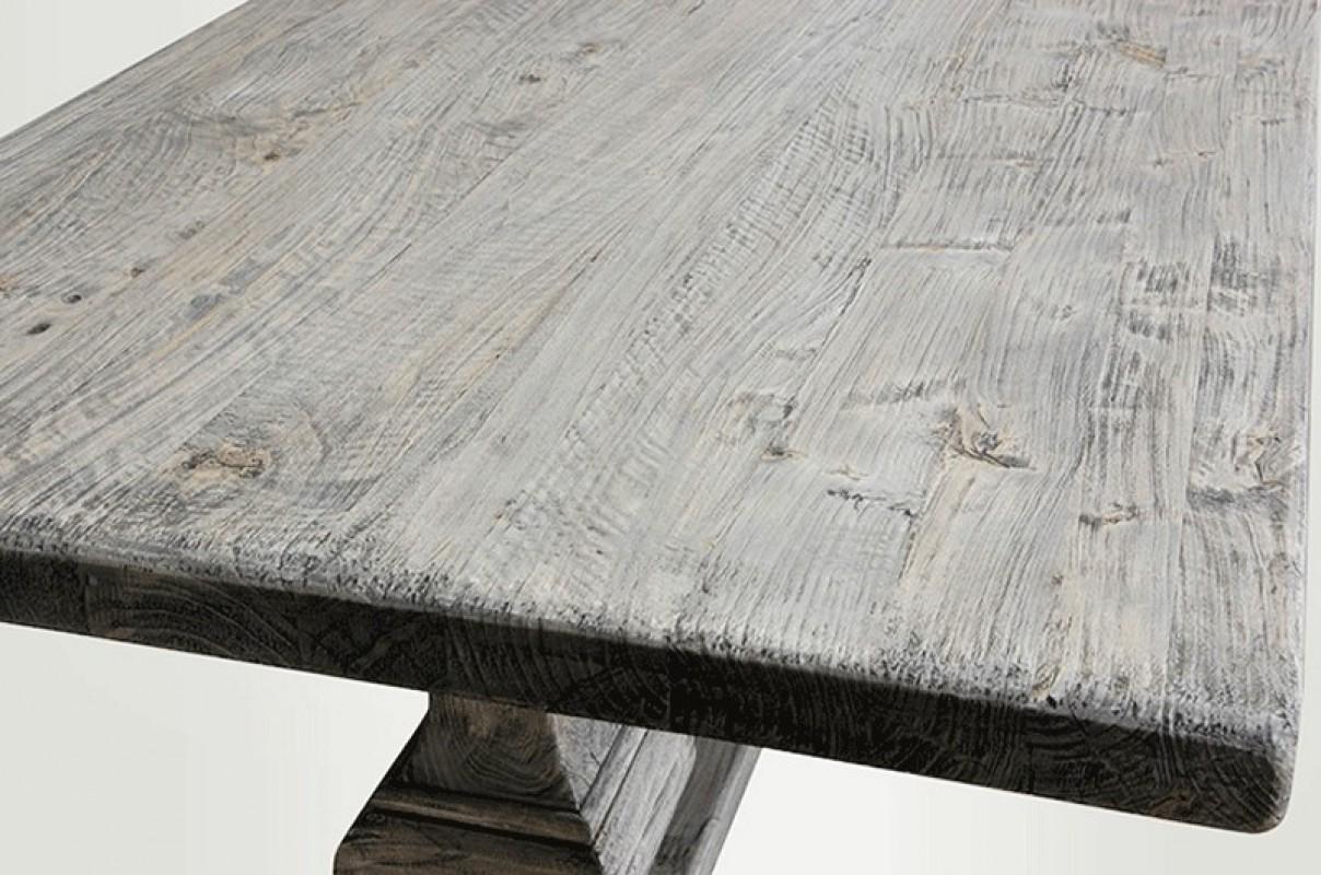 table de ferme, gris, bois gris, cendré, table bois, table en bois ...