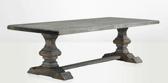 Monastery Farm table, Grey color