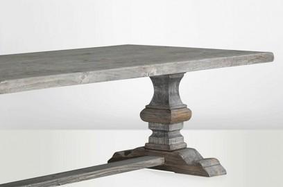 Grande table monastère gris cendré