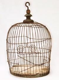 Small romantic bird cage