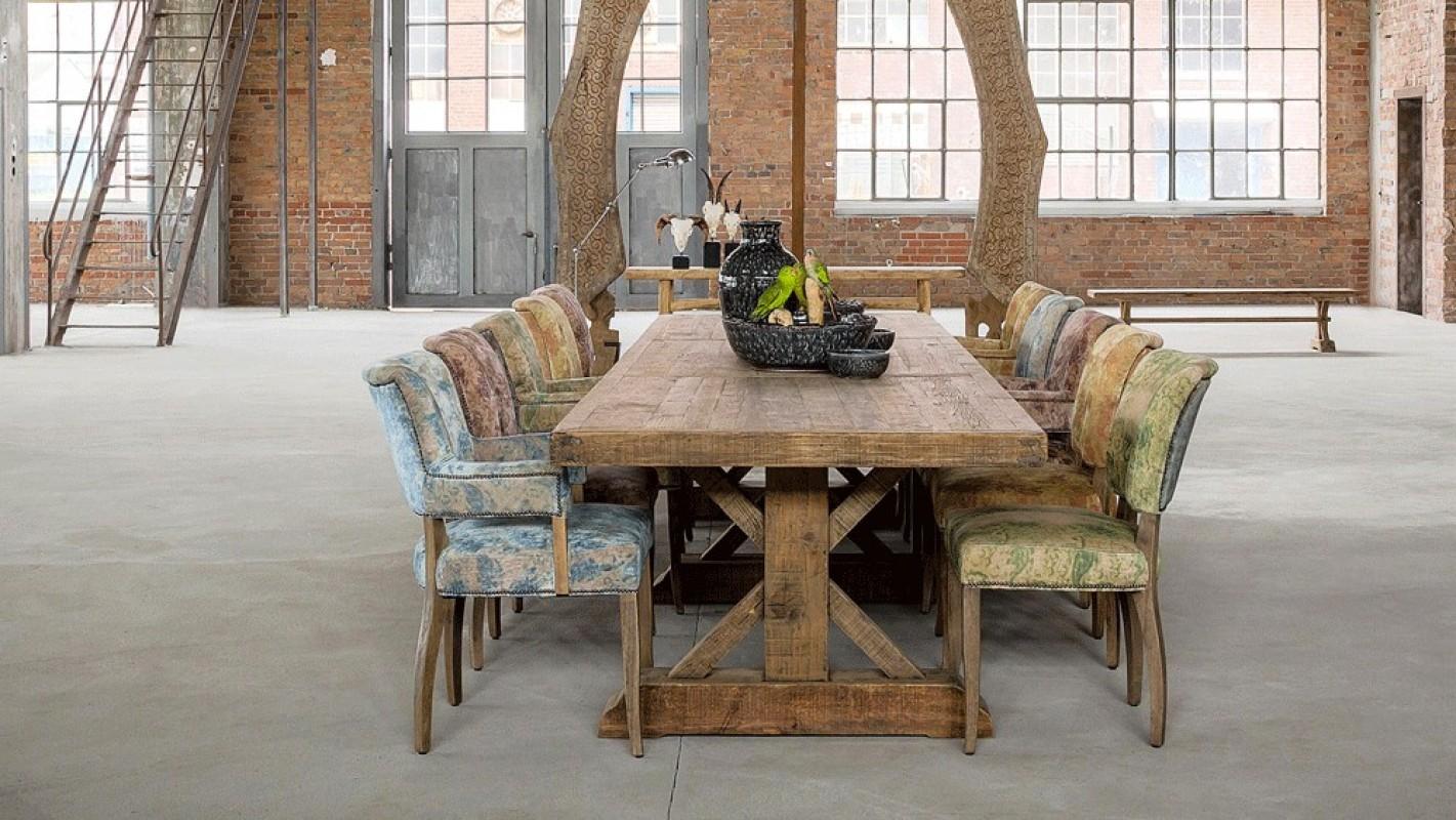 Grande table de ferme table de ferme ancienne table en for Table salle a manger ancienne