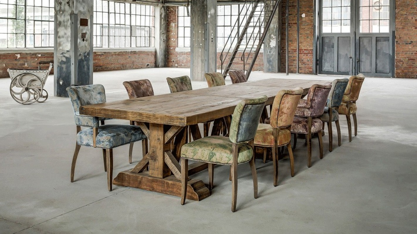 wooden tbale, contemporary table, pine wood, solid oak, wide table ...
