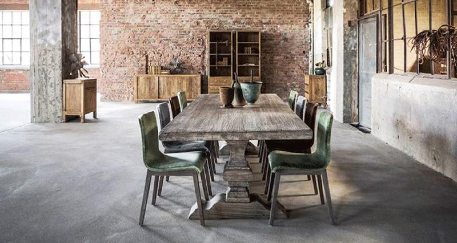 Table monast re grise table de ferme table bois grande - Table ancienne et chaises modernes ...