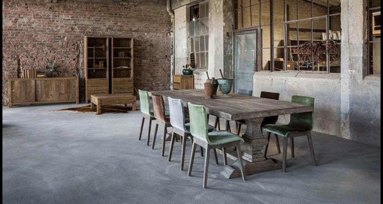 Table de ferme gris bois gris cendr table bois table - Table gigogne pas cher ...